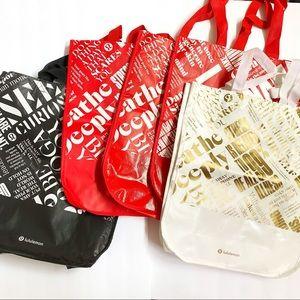 Lululemon large reusable shopping bag tote